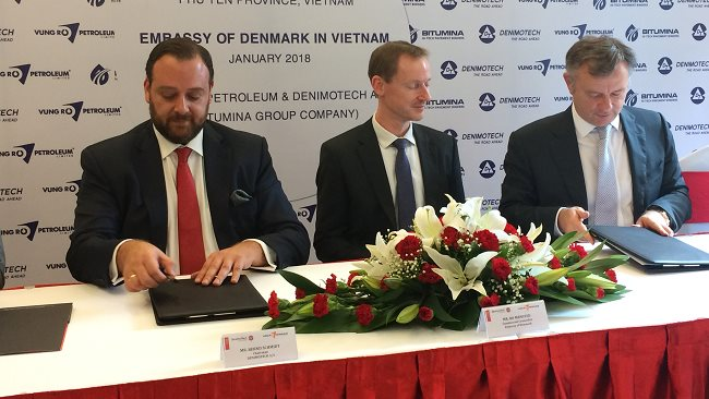 Vung Ro Petroleum co-operates with Danish corporation to build green bituminous binders processing plant in Vietnam