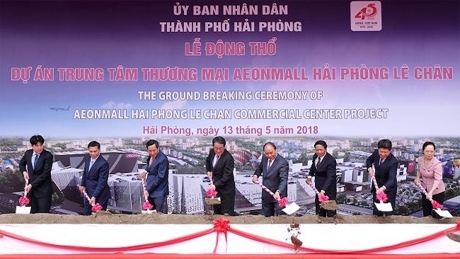 Giant Japanese retail group, AEON anticipates to open a $180 million shopping mall in Hai Phong city