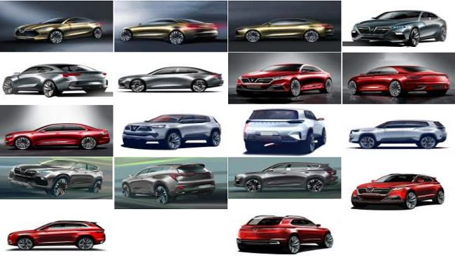 VinFast reveals 20 car designs for Vietnamese