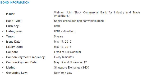 Vietinbank cancels international bond listing worth US$250m   E