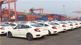 Import of automobiles decreases by 11 per cent