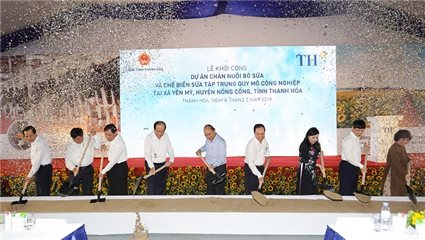 TH Group kicks off $162 million dairy farm project in Thanh Hoa