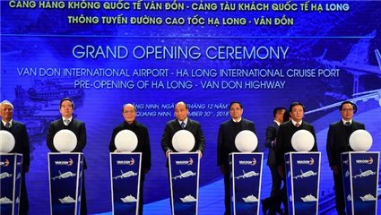 Three landmark transportation projects opened in Quang Ninh province