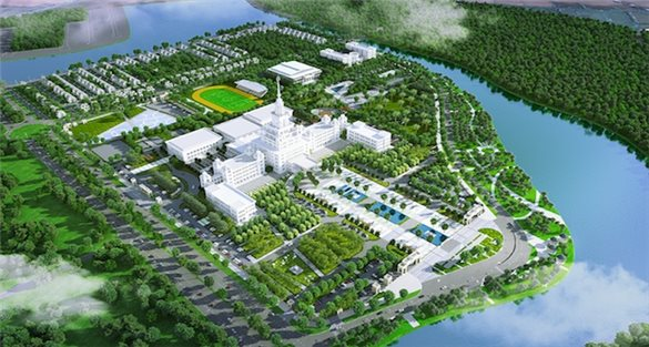 $220 million backed VinUni under construction in VinCity Ocean Park