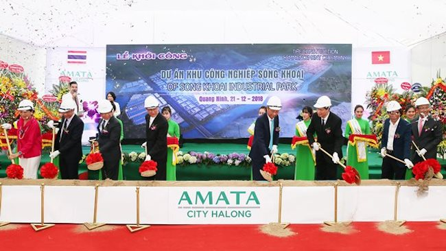 Thai tycoon kicks off $1.6 billion Amata City Halong
