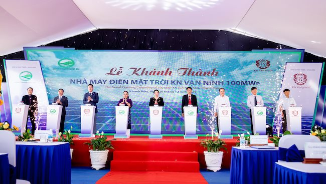 KN Van Ninh solar power plant inagurated in Khanh Hoa