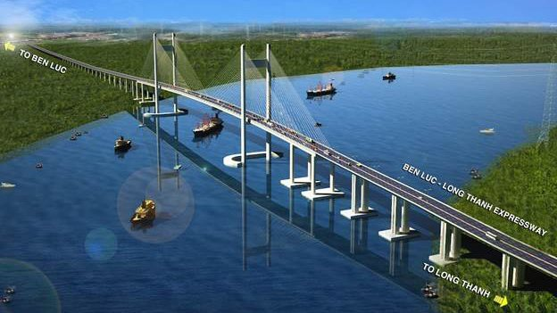 Large expressway project connecting the Mekong Delta with the Vietnam's Southeastern region under construction
