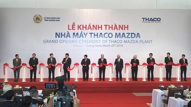 Thaco inaugurates the Southeast Asia's biggest Mazda car assembly plant