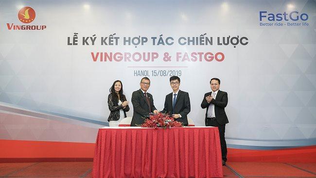 Vingroup joins FastGo offering ride-sharing services on VinFast cars