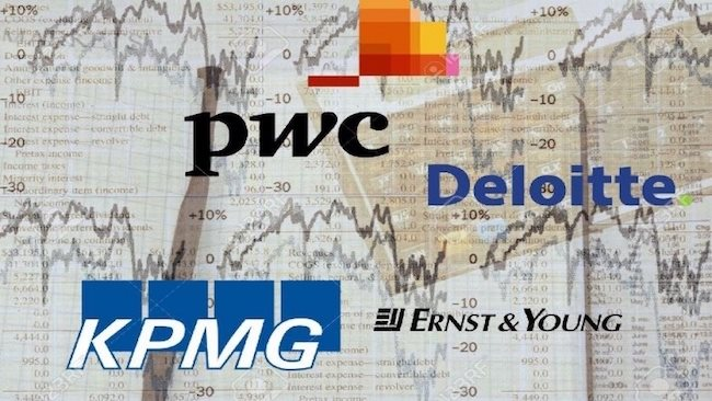 Big4 of audit services EY, PwC, Deloitte and KPMG earned minors in main sector