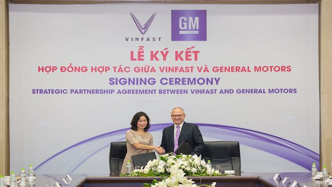VinFast and GM sign landmark strategic partnership agreement in Vietnam