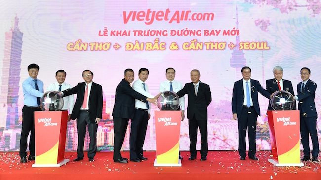 Vietjet links Mekong Delta with Seoul and Taipei