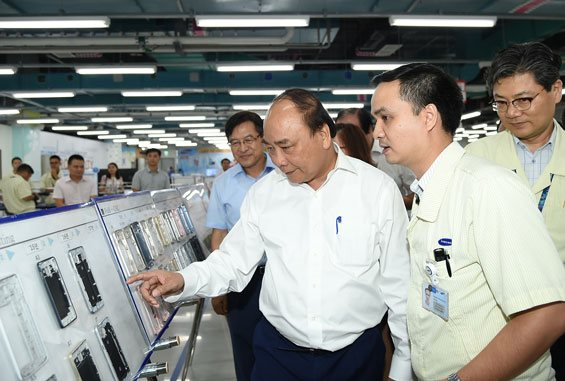 """Samsung plans to turn into the """"Metropolis"""" of electronic compounds in Viet Nam"""