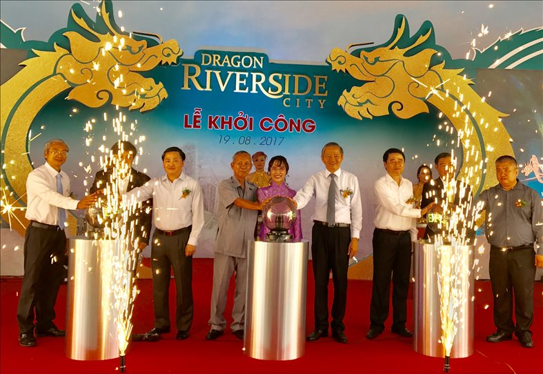 Dragon Riverside City kicked off the groundbreaking ceremony