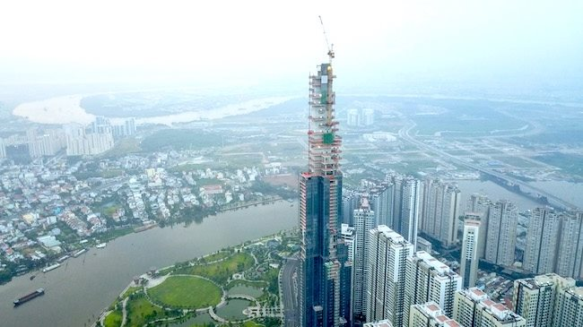 Coteccons tops out the tallest skyscraper in Vietnam