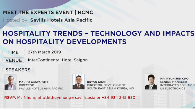 Savills Hotels to hold event on hospitality trends