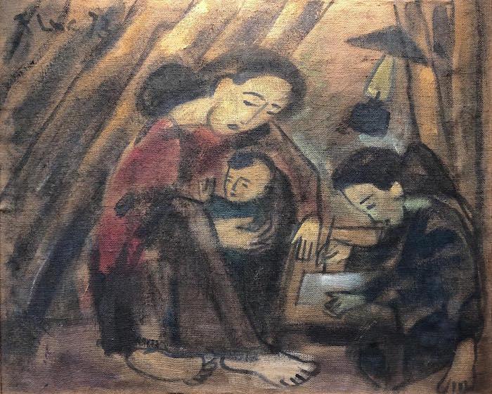 Paintings on rice sacks