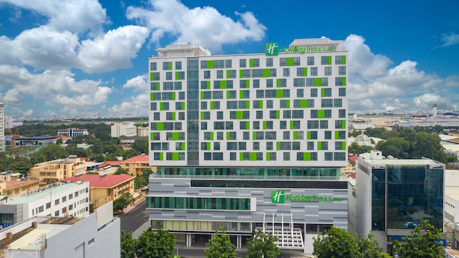 Checking in the first Holiday Inn hotel in Vietnam