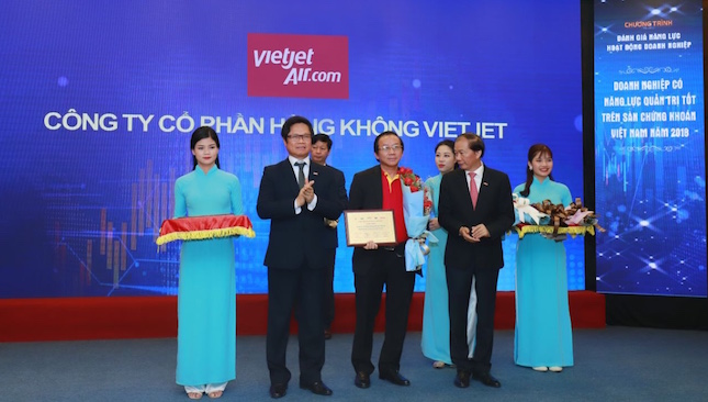 Vietjet certified as best corporate governance company on Vietnamese stock exchanges